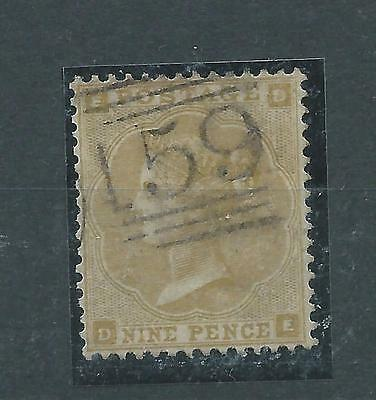 GREAT BRITAIN 1862 9d BISTRE THICK PAPER FINE COPY BEFORE cds CAT GB£450