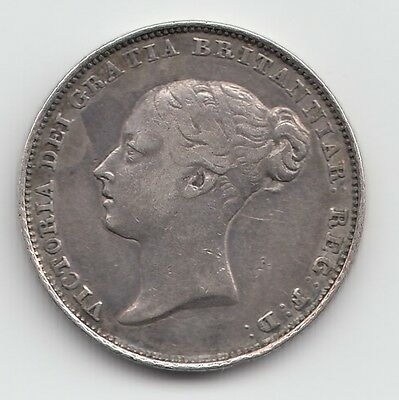 Rare 1838 Silver Sixpence 6d - Victoria