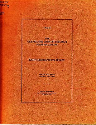The Cleveland and Pittsburgh Railroad Company 88th Annual Report 1935