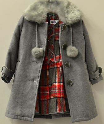 Girls Faux Wool Winter Dress and Coat