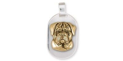 Bullmastiff Personalized Pendant Jewelry Sterling Silver And Yellow Bronze Handm