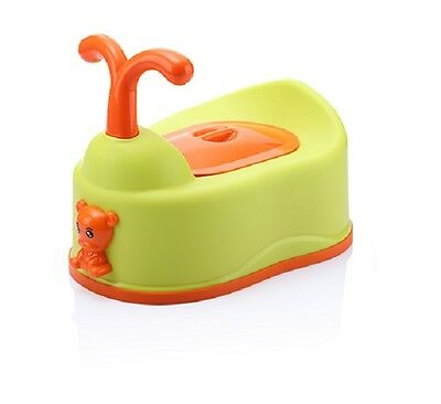 Cute Baby Potty Toilet Training Seat Children Non-slip Chair Soft Secure - Green
