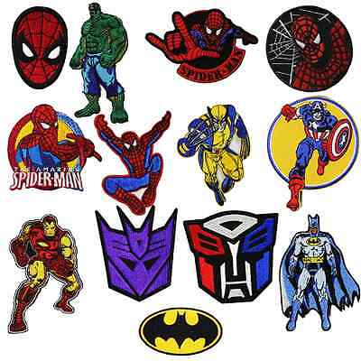 13 Super Hero Sew Embroidery Iron On Patch Badge Clothes Fabric Applique