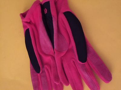 Women's Cycling One Size Gloves Pink and Black Colors