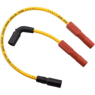 Accel Yellow 8mm Spark Plug Wire Set for 2009-12 Harley Sportster XR1200 Models