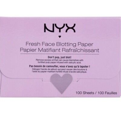 "NYX Fresh Face Blotting Paper-100 Sheets ""new & Sealed"""