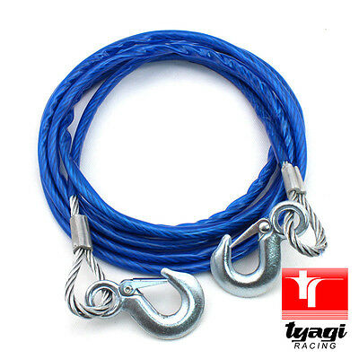 5 Tonne 4 Meter Heavy Duty Steel Tow Car Rope Wire Pull Road Recovery Car Van