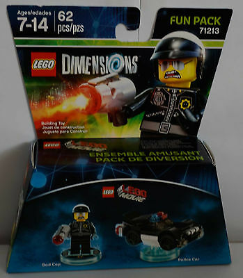 ONLY ONES MIB LEGO MOVIE BAD COP /& POLICE CAR LEGO DIMENSIONS FUN PACK 71213