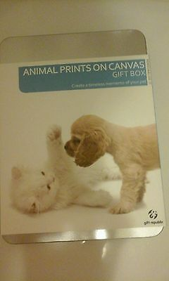 Your pets paw prints on canvas gift set by gift Republic keepsake sentimental