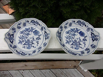 BLUE DANUBE Blue Onion Set Of Two Augratin Casserole Dishes Rectangular Mark