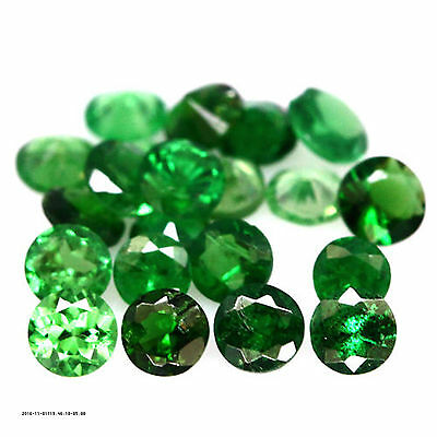 1.51 Ct Natural! 21Pcs Green Tanzania Tsavorite Garnet Round
