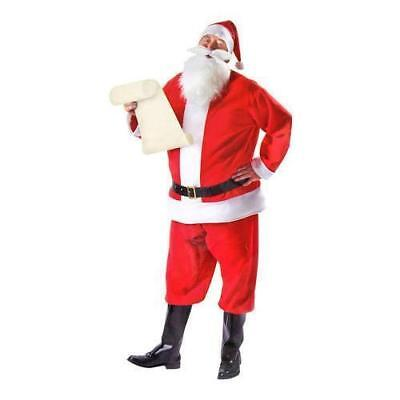 NEW, Santa Claus Men's Red Costume Christmas Suit, One Size