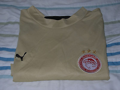 Puma Olympiacos 3Rd Shirt Size L Gold