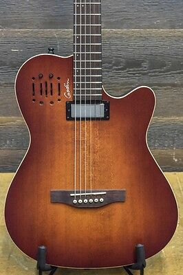 "Godin A6 Ultra Baritone Burnt Umber ""SF"" Electro-Acoustic Guitar w/Bag #16325194"