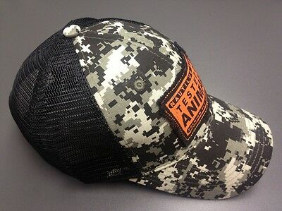 Nautilus Reel BLACK OPS CAMO TRUCKER HAT TESTED ON ANIMALS