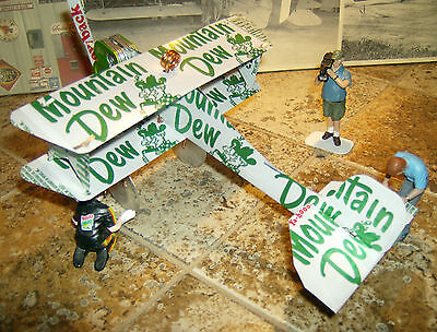 Mountain Dew Throwback Plane Tin Sign HANDCRAFTED from CANS MTN DEW DO the DEW