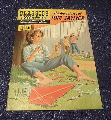 Classics Illustrated #50 ADVENTURES OF TOM SAWYER Comic Book HRN 169 Mark Twain