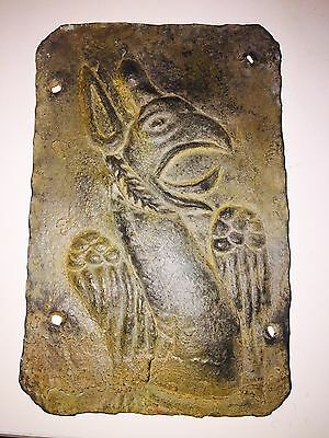 Ancient Bronze Griffon  Plague Dated to 750 BC.
