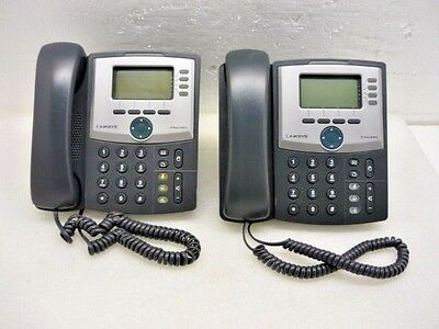Lot 2 Cisco Linksys SPA942 Business IP Phone w/ Stand, handset, cable  - TESTED