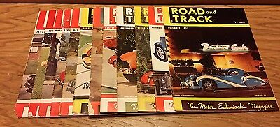 Complete Year of 1951 Road and Track Hot Rod Magazines 12 Issues Lot