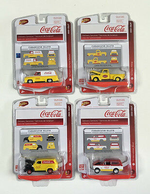 Johnny Lightning Coca-Cola Delivery Services 4 Truck Set Limited Edition of 2500