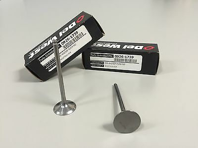 Kawasaki Del West KX250FCrN DLC PVD coated exhaust valve no-dish high comp NEW