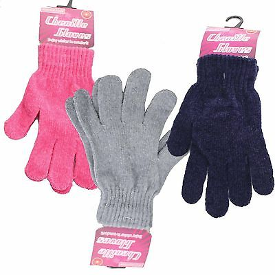 CHENILLE Soft Stretchy Mens Ladies/Womens Winter Warm Magic GLOVES