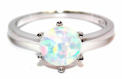 Sterling Silver Fire Opal 2.3ct Ring (925)