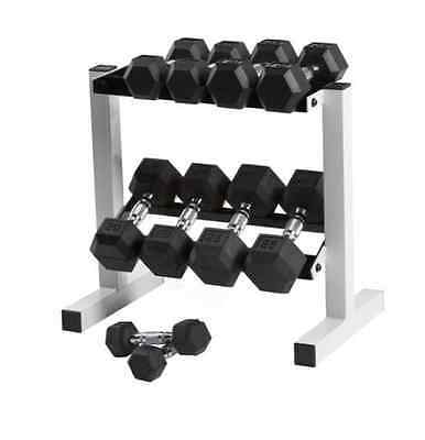 New Rubber Hex 150 lb Dumbbell Weight Set