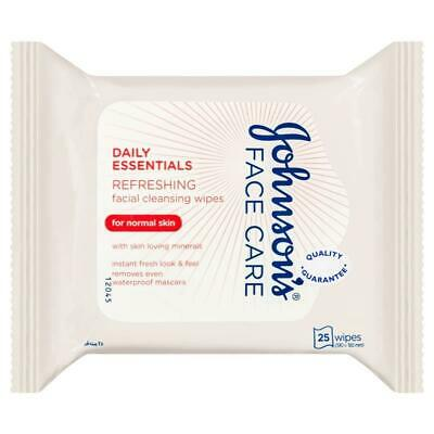 Johnson & Johnson Daily Essentials Refreshing Facial Cleansing Wipes for Norm...
