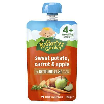 Raffertys Garden 4 Months Sweet Potato Carrot & Apple 120g