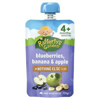 Raffertys Garden 4 Months Blueberry Banana & Apple 120g