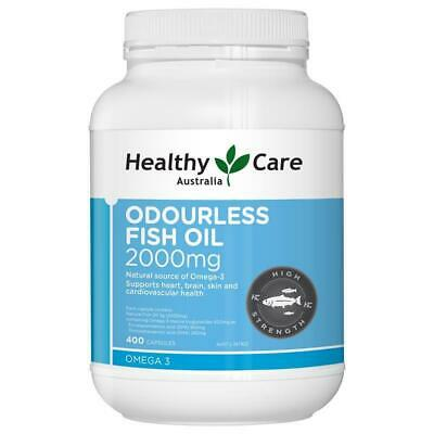 Healthy Care Odourless Fish Oil 2000mg 400 Capsules