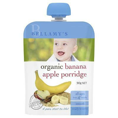 Bellamy's Organic Banana & Apple Porridge 90g