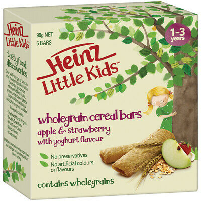 Heinz Little Kids Whole Grain Cereal Bars Apple & Strawberry Yoghurt 6 Pack