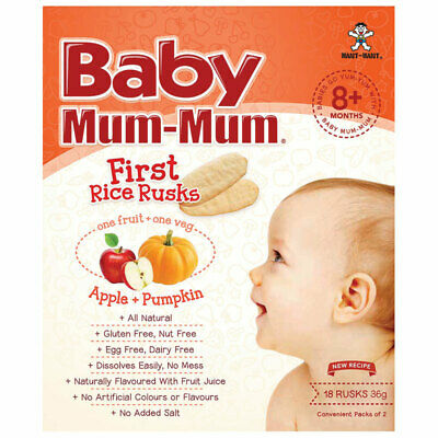Baby Mum-Mum Rice Rusks Apple & Pumpkin Flavour 36g