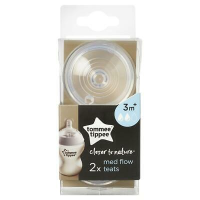 Tommee Tippee Closer To Nature Medium Flow Teats 2 Pack