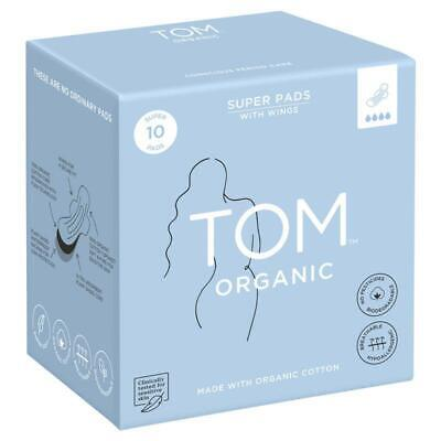 TOM Organic Ultra Thin Pads Super 10 Pack