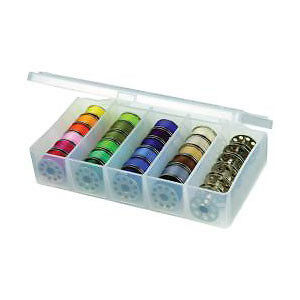 NEW Artbin Bobbin Box 3In.X6in.X1.25In. Translucent