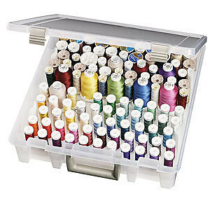 Artbin Super Satchel Box With Removable Thread Trays 15In.X14in.X3.5In. Trans...