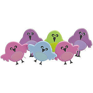NEW Eyelet Outlet Shape Brads 12 Pack  Cute Birds