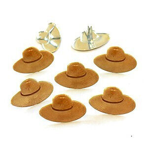 NEW Eyelet Outlet Shape Brads 12 Pack - Straw Hats