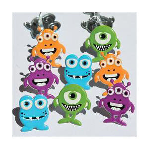 NEW Eyelet Outlet Shape Brads 12 Pack  Monsters