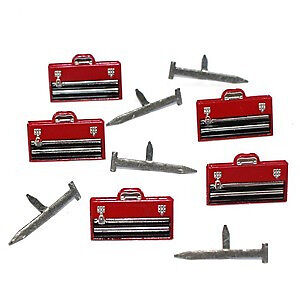 NEW Eyelet Outlet Shape Brads 12 Pack - Tool Box & Nails