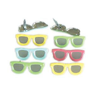 NEW Eyelet Outlet Shape Brads 12 Pack  Sunglasses - Pastel