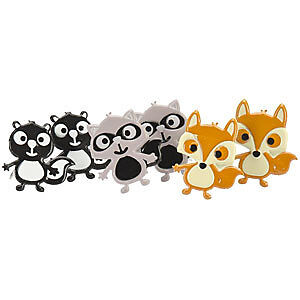 NEW Eyelet Outlet Shape Brads 12 Pack  Woodland Animals