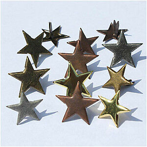 NEW Eyelet Outlet Shape Brads 12 Pack Star