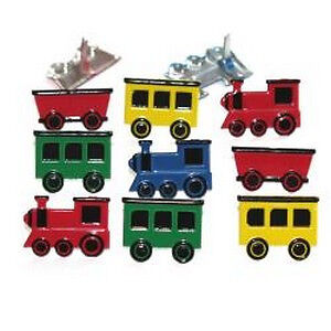 NEW Eyelet Outlet Shape Brads 12 Pack Train Mix