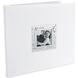 NEW Mbi Expressions Post Bound Album 12In. X12in.  Wedding - White