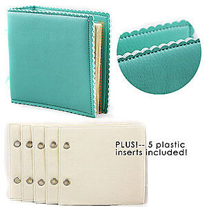 NEW Prima Marketing - Leather Look Album 8X8 With 5 Plastic Inserts